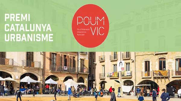 The Town Urban Planning of the city Vic wins the 2020 Premi Catalunya d'Urbanisme Manel de Solà Morales, awarded by the Societat Catalana d'Ordenació del Territori (Institut d'Estudis Catalans)